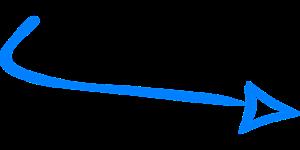 Hinweis Pfeil Blau